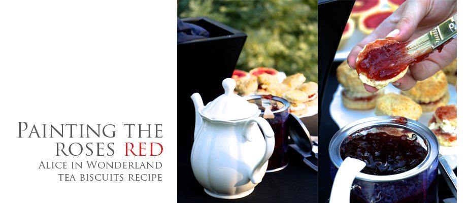 Alice in Wonderland's Queen of Hearts Tea Party; Tea Biscuits