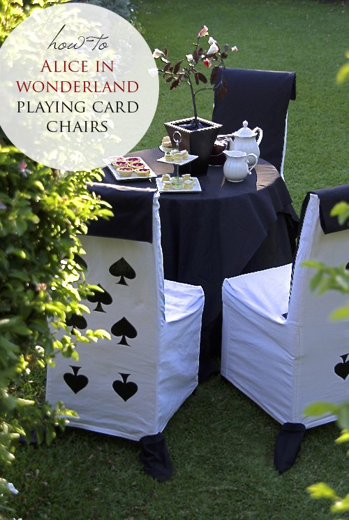 Alice in Wonderland Playing Card Chairs