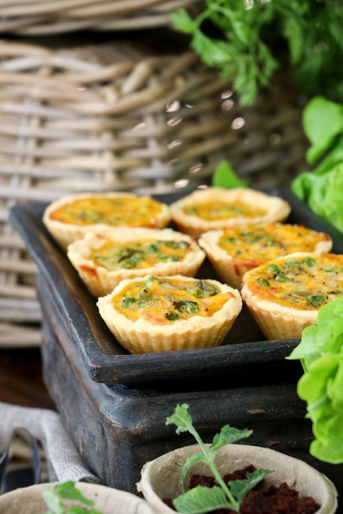 Peter Rabbit; Carrot and Peas Quiche