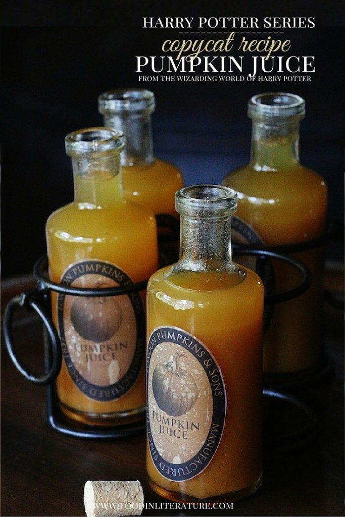 Food In Literature   Copycat Harry Potter Pumpkin Juice Recipe