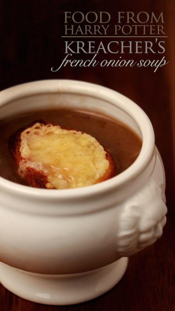 Cosy up this winter with a bowl of freshly made French Onion soup, courtesy of Kreacher from Harry Potter.