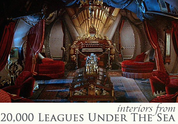 The Interiors in 20,000 Leagues Under The Sea