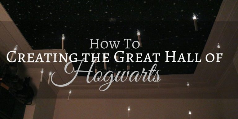 DIY HOGWARTS GREAT HALL DECORATIONS FOR A MAGICAL HARRY POTTER PARTY