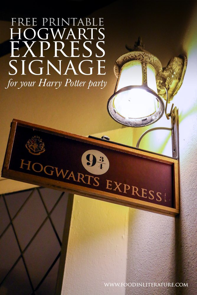 How To | Hogwarts Express and 9 3/4 signage