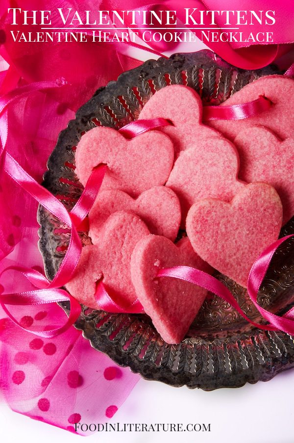 The Valentine Kittens; Valentine Heart Cookie Necklace