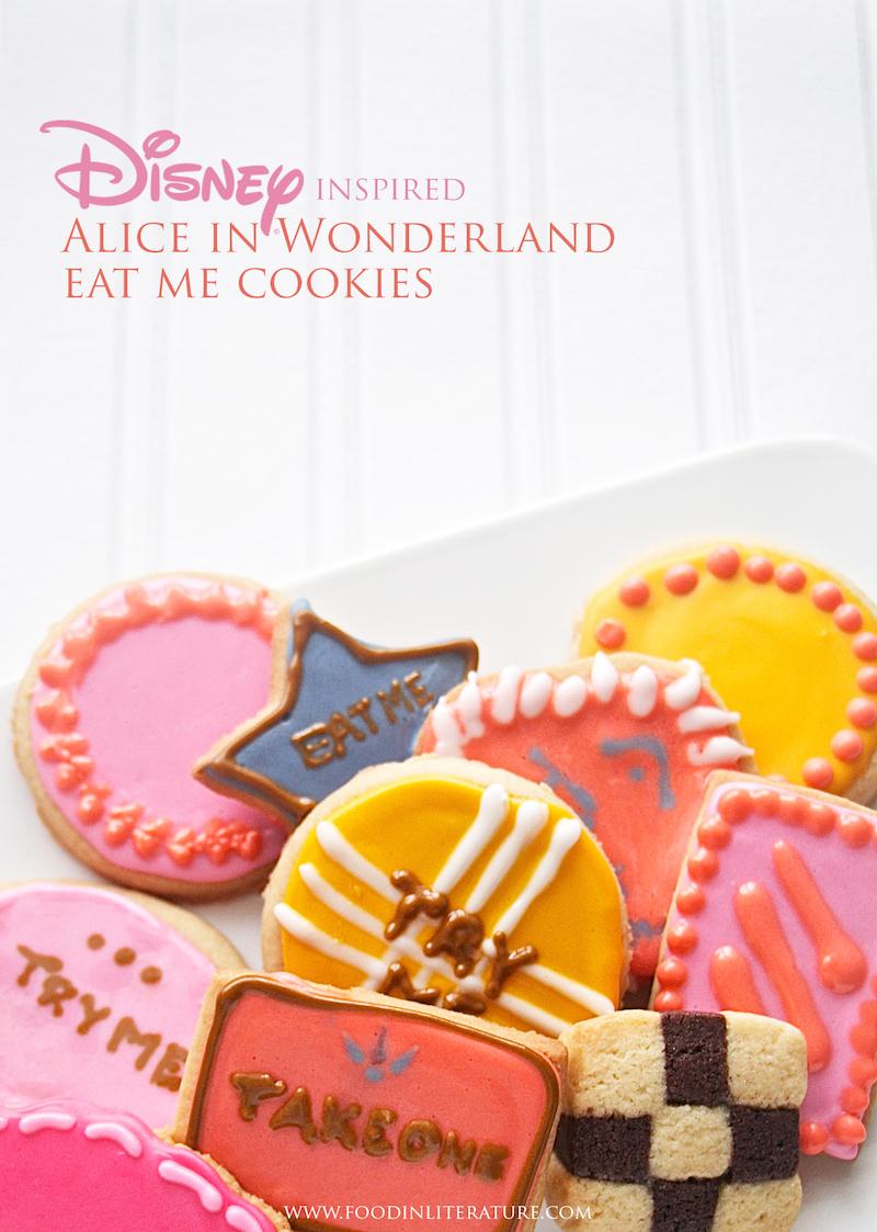 Alice in Wonderland Eat Me Cookies