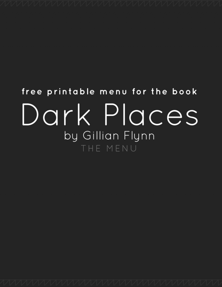 Food in Dark Places | Gillian Flynn (Food Reference List)