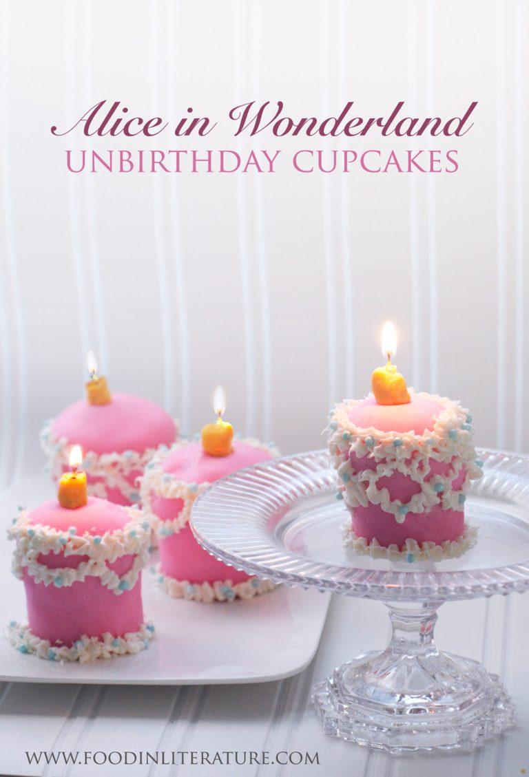 Alice in Wonderland Unbirthday Cake Tea Infused cupcakes