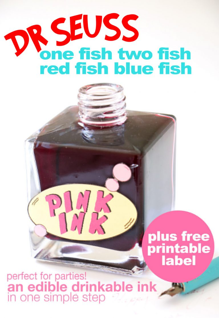 Dr Seuss Pink Ink | One Fish Two Fish Red Fish Blue Fish