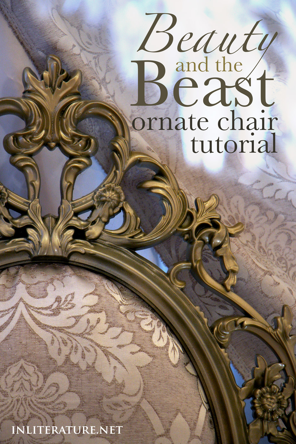 beauty and the beast ornate chair tutorial