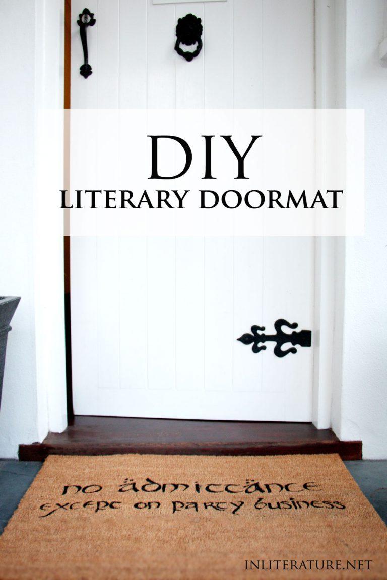 DIY Literary Doormat