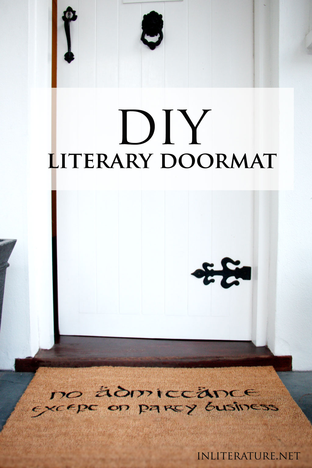 DIY Literary Doormat