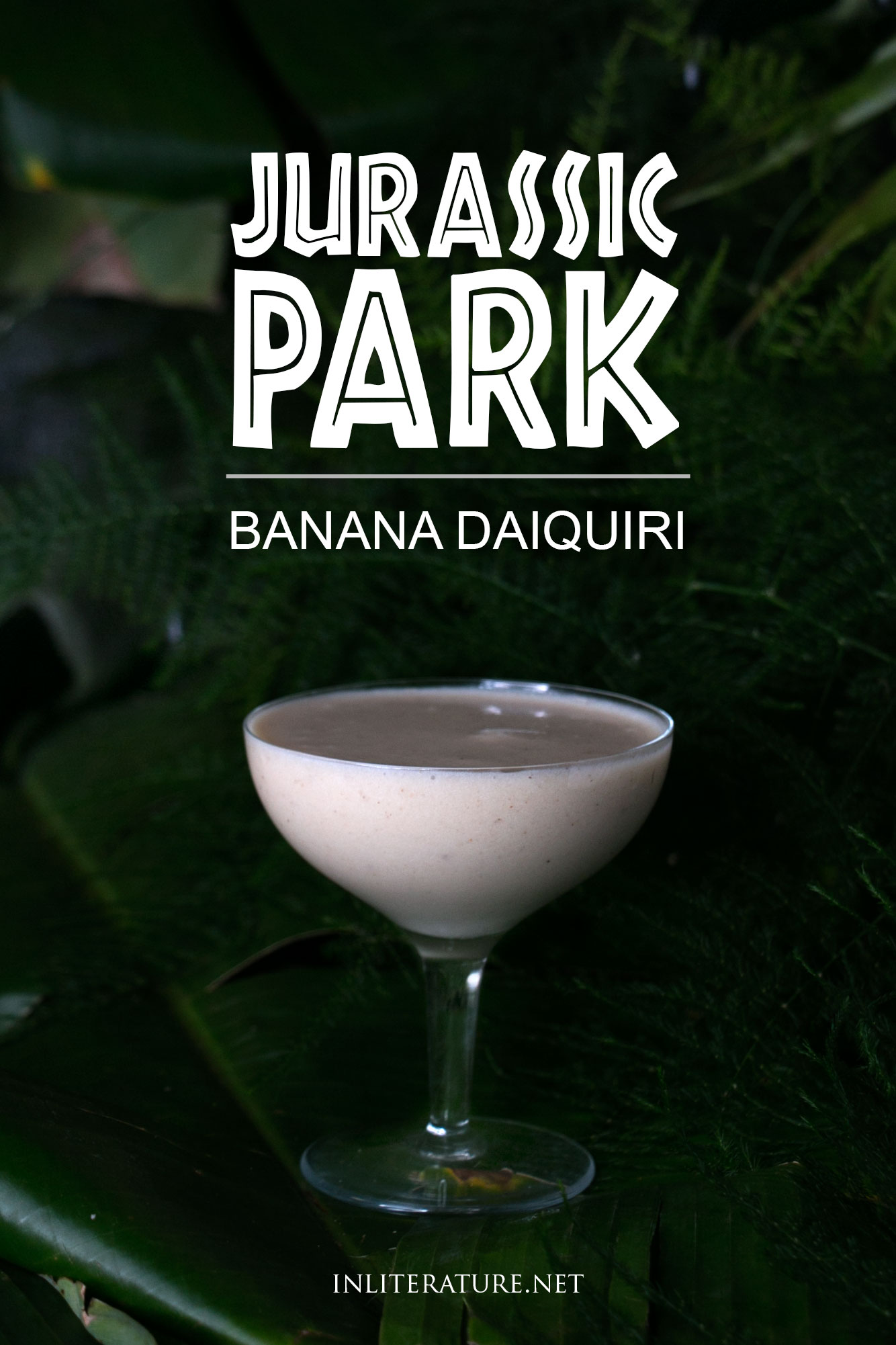 Whip up this easy banana daiquiri for your Jurassic Park party, inspired by the original novel.