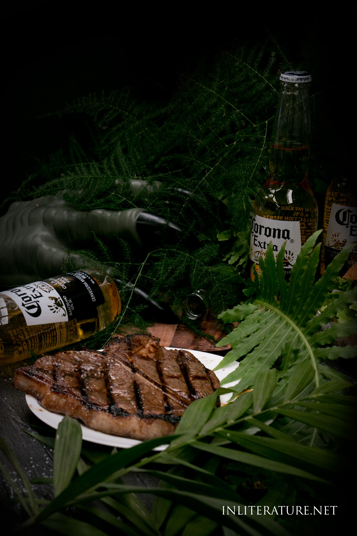 What dinosaur wouldn't love a nice juicy T-bone steak? serve this up on your next Jurassic Park party menu.