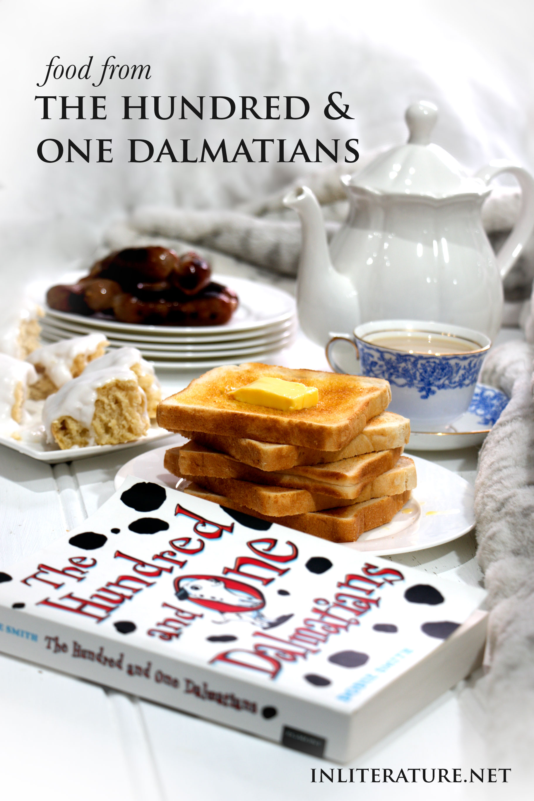 Explore the food mentioned in the novel The Hundred and One Dalmatians