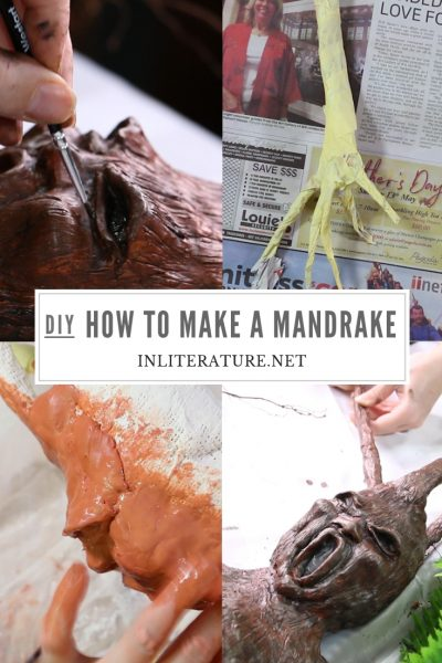Every Hogwarts party needs a mandrake in the Herbology section-- and after your party is done, that mandrake will look perfect on your bookshelf. So here's how to make one yourself!