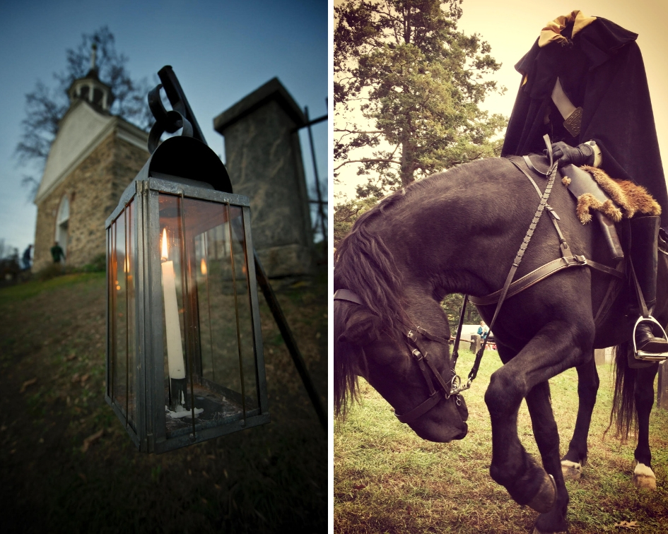 The Old Dutch Church and the Headless Horseman in Sleepy Hollow