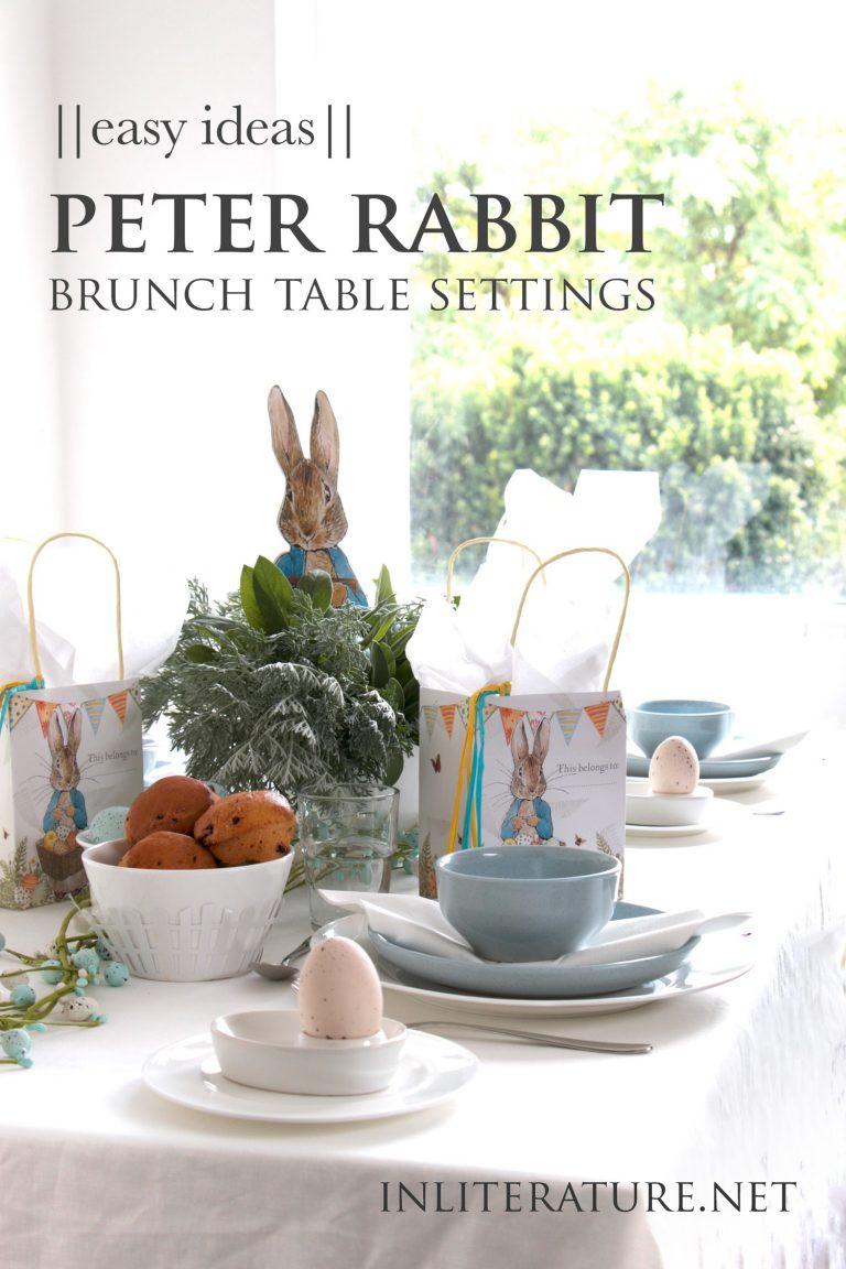Easy Peter Rabbit Brunch Table Setting Ideas