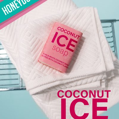 Honeydukes Coconut Ice Soap [DIY tutorial]