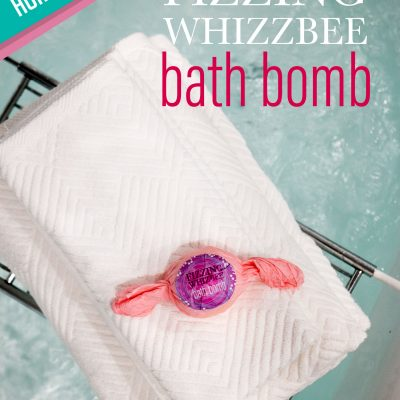 Honeydukes inspired Fizzing Whizbee bath bomb tutorial