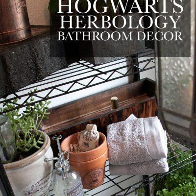 Hogwarts Herbology Bathroom Decor [Harry Potter]