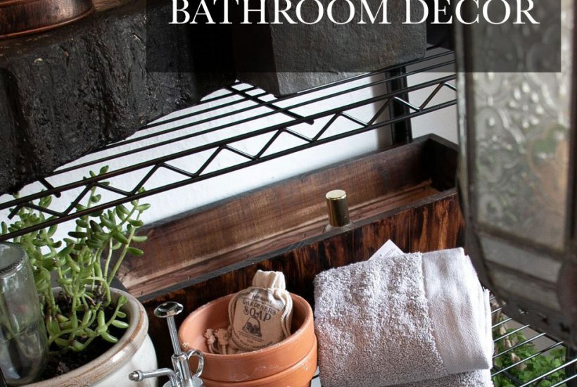 With some free printables and a few plants, you can turn your bathroom into a Hogwarts greenhouse to look like it's ready for Professor' Sprout's next Herbology class!