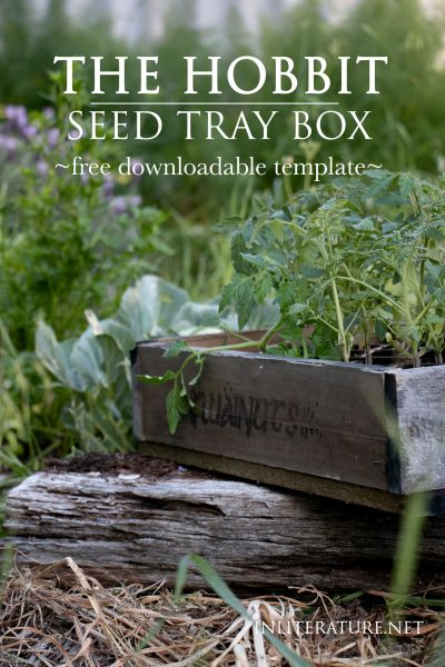 Tap into your inner Hobbit and get yourself into the garden! But first you'll want the free downloadable template for the Hobbiton inspired seedling tray and the Hamfast Gamgee seed storage box to make your own.